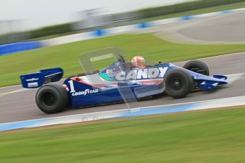 © Octane Photographic Ltd. Masters Racing – Pre-season testing – Donington Park, 5th April 2012. Single-seater classes, Tyrrell , Historic F1. Digital Ref : 0271cb7d6639