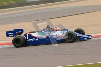 © Octane Photographic Ltd. Masters Racing – Pre-season testing – Donington Park, 5th April 2012. Single-seater classes, Tyrrell , Historic F1. Digital Ref : 0271cb7d6647