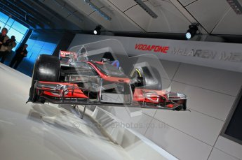 © 2012 Octane Photographic Ltd. Vodafone McLaren Mercedes Technical Car Launch MP4/27 Digital Ref : 0216lw1d2226