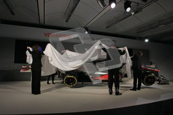 © 2012 Octane Photographic Ltd. Vodafone McLaren Mercedes Technical Car Launch MP4/27  Digital Ref : 0216lw1d2324