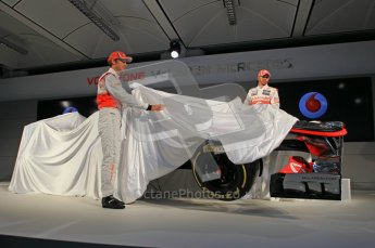 © 2012 Octane Photographic Ltd. Vodafone McLaren Mercedes Technical Car Launch MP4/27  Digital Ref : 0216lw7d2466