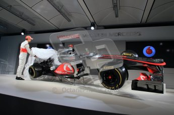 © 2012 Octane Photographic Ltd. Vodafone McLaren Mercedes Technical Car Launch MP4/27  Digital Ref : 0216lw7d2554