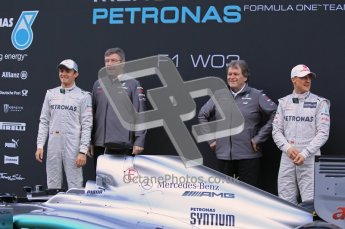 © 2012 Octane Photographic Ltd. Barcelona Winter Test 1 Day 1 - Tuesday 21st February 2012. Mercedes W03 Pit Lane Launch. Digital Ref : 0225lw1d5846