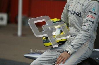 © 2012 Octane Photographic Ltd. Barcelona Winter Test 1 Day 1 - Tuesday 21st February 2012. Mercedes W03 Pit Lane Launch. Digital Ref : 0225lw1d5981
