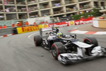 © Octane Photographic Ltd. 2012. F1 Monte Carlo - Race. Sunday 27th May 2012. Bruno Senna - Williams. Digital Ref : 0357cb1d7913