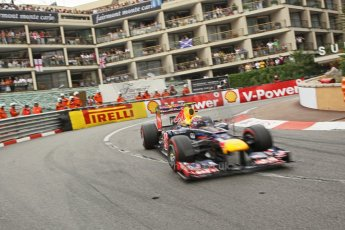 © Octane Photographic Ltd. 2012. F1 Monte Carlo - Race. Sunday 27th May 2012. Mark Webber - Red Bull. Digital Ref : 0357cb1d7938