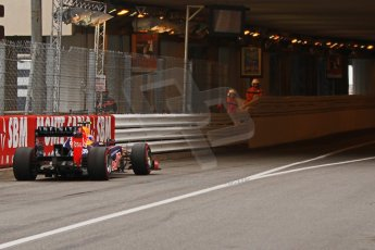 © Octane Photographic Ltd. 2012. F1 Monte Carlo - Race. Sunday 27th May 2012. Mark Webber enters the tunnel - Red Bull. Digital Ref : 0357cb7d0073