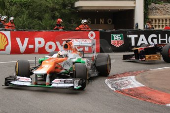 © Octane Photographic Ltd. 2012. F1 Monte Carlo - Race. Sunday 27th May 2012. Paul di Resta - Fore India. Digital Ref : 0357cb7d0130