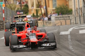© Octane Photographic Ltd. 2012. F1 Monte Carlo - Race. Sunday 27th May 2012. Charles Pic - Marussia. Digital Ref : 0357cb7d0278