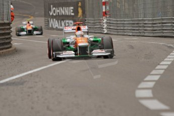 © Octane Photographic Ltd. 2012. F1 Monte Carlo - Race. Sunday 27th May 2012. Paul di Resta and Nico Hulkenberg - Fore India. Digital Ref : 0357cb7d0320