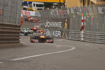 © Octane Photographic Ltd. 2012. F1 Monte Carlo - Race. Sunday 27th May 2012. Mark Webber - Red Bull. Digital Ref : 0357cb7d0395