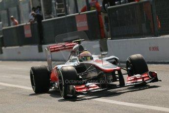 © 2012 Octane Photographic Ltd. Italian GP Monza - Saturday 8th September 2012 - F1 Qualifying. McLaren MP4/27 - Lewis Hamilton. Digital Ref : 0513lw1d1939