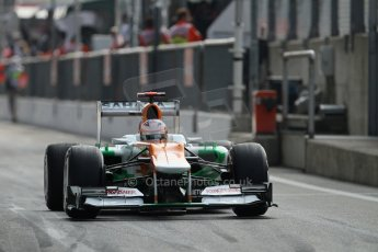 © 2012 Octane Photographic Ltd. Italian GP Monza - Saturday 8th September 2012 - F1 Qualifying. Force India VJM05 - Paul di Resta. Digital Ref :