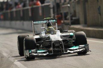 © 2012 Octane Photographic Ltd. Italian GP Monza - Saturday 8th September 2012 - F1 Qualifying. Mercedes W03 - Nico Rosberg. Digital Ref :