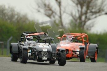 © Octane Photographic Ltd. Motors TV day – Donington Park,  Saturday 31st March 2012. Caterham Graduates - Mega and Classic classes. Digital ref : 0267cb1d9463