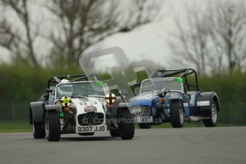 © Octane Photographic Ltd. Motors TV day – Donington Park,  Saturday 31st March 2012. Caterham Graduates - Mega and Classic classes. Digital ref : 0267cb1d9523