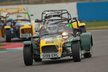 © Octane Photographic Ltd. Motors TV day – Donington Park, Saturday 31st March 2012. Caterham Graduates - Mega and Classic classes. Digital ref : 0267cb1d9549