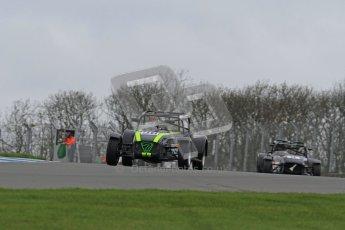 © Octane Photographic Ltd. Motors TV day – Donington Park,  Saturday 31st March 2012. Caterham Graduates - Mega and Classic classes. Digital ref : 0267lw7d7826