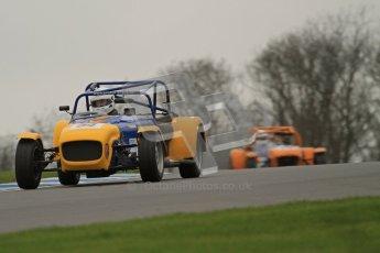 © Octane Photographic Ltd. Motors TV day – Donington Park,  Saturday 31st March 2012. Caterham Graduates - Mega and Classic classes. Digital ref : 0267lw7d7883
