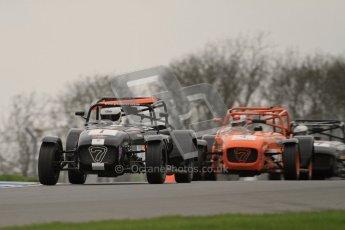 © Octane Photographic Ltd. Motors TV day – Donington Park,  Saturday 31st March 2012. Caterham Graduates - Mega and Classic classes. Digital ref : 0267lw7d7952