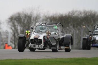 © Octane Photographic Ltd. Motors TV day – Donington Park,  Saturday 31st March 2012. Caterham Graduates - Mega and Classic classes. Digital ref : 0267lw7d8098