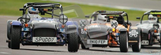 © Octane Photographic Ltd. Motors TV day – Donington Park, Saturday 31st March 2012. Caterham Graduates – Super and Sigma classes. Digital ref : 0269cb1d0356