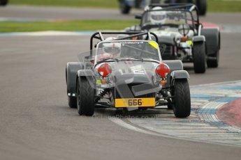 © Octane Photographic Ltd. Motors TV day – Donington Park, Saturday 31st March 2012. Caterham Graduates – Super and Sigma classes. Digital ref : 0269cb1d0422