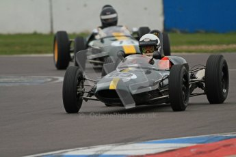 © Octane Photographic Ltd. Motors TV day – Donington Park,  Saturday 31st March 2012. Formula Junior Free practice, Denis Welch - Lotus 22 and Peter Anstiss - Lotus 20/22. Digital ref : 0264cb7d5592