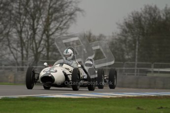 © Octane Photographic Ltd. Motors TV day – Donington Park,  Saturday 31st March 2012. Formula Junior Free practice, Justin Fleming - Elva 100. Digital ref : 0264lw7d6506