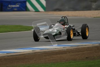© Octane Photographic Ltd. Motors TV day – Donington Park,  Saturday 31st March 2012. Formula Junior Free practice, Michael Hibberd - Lotus 27. Digital ref : 0264lw7d6859