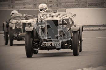 © Octane Photographic Ltd. Motors TV day – Donington Park,  Saturday 31st March 2012. VSCC Pre-War Sportscars with a retro look edit. Digital ref : 0270cb1d9102