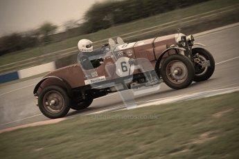 © Octane Photographic Ltd. Motors TV day – Donington Park, Saturday 31st March 2012. VSCC Pre-War Sportscars with a retro look edit, Duncan Arthurs - Invicta Sports Tourer. Digital ref : 0270cb7d5817