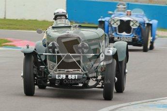 © Octane Photographic Ltd. Motors TV day – Donington Park, Saturday 31st March 2012. VSCC Pre-War Sportscars, Duncan Arthurs - Invicta Sports Tourer. Digital ref : 0265cb1d9113