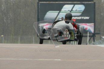 © Octane Photographic Ltd. Motors TV day – Donington Park,  Saturday 31st March 2012. VSCC Pre-War Sportscars, Sue Derbyshire - Morgan Super Aero. Digital ref : 0265cb1d9176