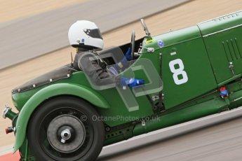 © Octane Photographic Ltd. Motors TV day – Donington Park, Saturday 31st March 2012. VSCC Pre-War Sportscars, Joshua Beebee - Frazer Nash TT rep. Digital ref : 0265cb7d5727