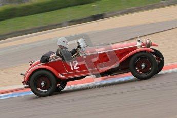 © Octane Photographic Ltd. Motors TV day – Donington Park, Saturday 31st March 2012. VSCC Pre-War Sportscars, Roger Buxton - Alfa Romeo 6C Zagato Spyder. Digital ref : 0265cb7d5736