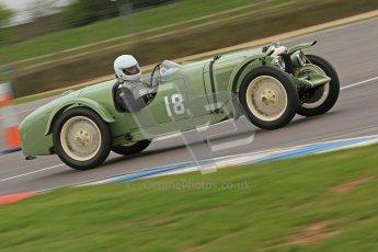 © Octane Photographic Ltd. Motors TV day – Donington Park, Saturday 31st March 2012. VSCC Pre-War Sportscars, David Lamb - Riley Brooklands. Digital ref : 0265cb7d5825