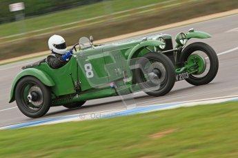 © Octane Photographic Ltd. Motors TV day – Donington Park, Saturday 31st March 2012. VSCC Pre-War Sportscars, Joshua Beebee - Frazer Nash TT rep. Digital ref : 0265cb7d5846