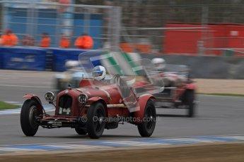 © Octane Photographic Ltd. Motors TV day – Donington Park,  Saturday 31st March 2012. VSCC Pre-War Sportscars, Neil Twyman - Alfa Romeo 8C. Digital ref : 0265lw7d7043
