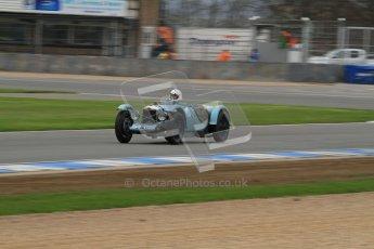 © Octane Photographic Ltd. Motors TV day – Donington Park, Saturday 31st March 2012. VSCC Pre-War Sportscars, Clive Temple - Riley Brooklands. Digital ref : 0265lw7d7053