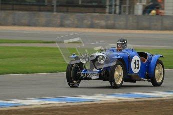 © Octane Photographic Ltd. Motors TV day – Donington Park, Saturday 31st March 2012. VSCC Pre-War Sportscars, Andrew Bush - Riley TT Sprite Rep. Digital ref : 0265lw7d7064