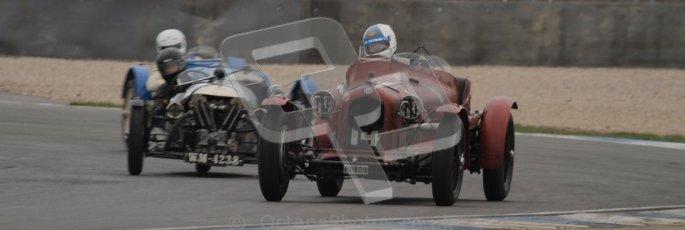 © Octane Photographic Ltd. Motors TV day – Donington Park, Saturday 31st March 2012. VSCC Pre-War Sportscars, Neil Twyman - Alfa Romeo 8C. Digital ref : 0265lw7d7082