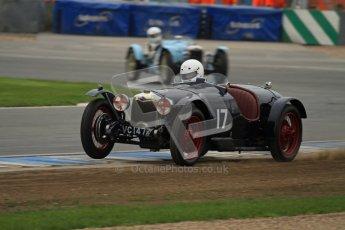 © Octane Photographic Ltd. Motors TV day – Donington Park, Saturday 31st March 2012. VSCC Pre-War Sportscars, Ian Standing - Riley Brooklands. Digital ref : 0265lw7d7174