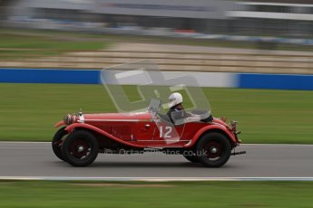 © Octane Photographic Ltd. Motors TV day – Donington Park, Saturday 31st March 2012. VSCC Pre-War Sportscars, Roger Buxton - Alfa Romeo 6C Zagato Spyder. Digital ref : 0265lw7d7269