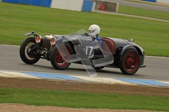 © Octane Photographic Ltd. Motors TV day – Donington Park, Saturday 31st March 2012. VSCC Pre-War Sportscars, Ian Standing - Riley Brooklands. Digital ref : 0265lw7d7356