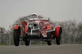 © Octane Photographic Ltd. Motors TV day – Donington Park, Saturday 31st March 2012. VSCC Pre-War Sportscars, Robin Toone - Alfa Romeo 1750. Digital ref : 0265lw7d7499