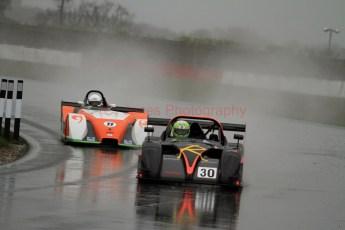© Jones Photography. OSS Championship Round 1, Snetterton, 28th April 2012. Darcy Smith, Radical SR4. Digital Ref: 0390CJ0524