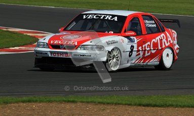 © Carl Jones / Octane Photographic Ltd. Silverstone Classic. Fujifilm Touring Car Trophy 1970-2000. 22nd July 2012. Alex Schooledge, Vauxhall Vectra. Digital Ref : 0415CJ7D1311