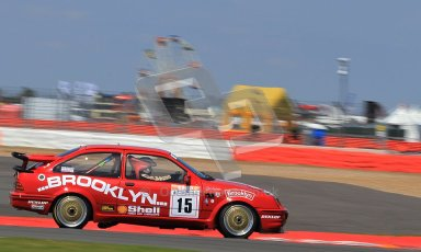 © Carl Jones / Octane Photographic Ltd. Silverstone Classic. Fujifilm Touring Car Trophy 1970-2000. 22nd July 2012. Craig Davies,Ford Sierra. Digital Ref : 0415CJ7D1555