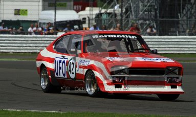 © Carl Jones / Octane Photographic Ltd. Silverstone Classic. Fujifilm Touring Car Trophy 1970-2000. 22nd July 2012. Tom Pochciol, Ford Capri. Digital Ref : 0415CJ7D1749